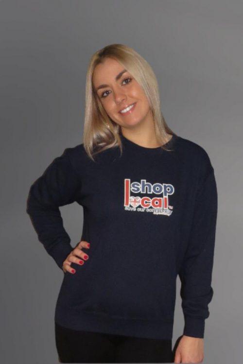 Adult Crewneck Sweatshirts - Navy - Square