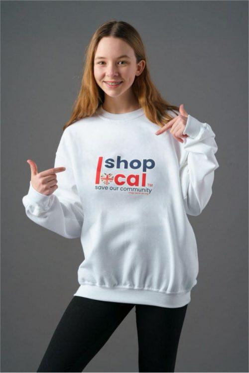 Adult Crewneck Sweatshirts - White - Square