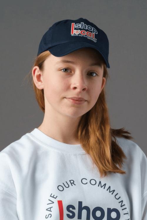 Baseball Caps - Navy - Modelled