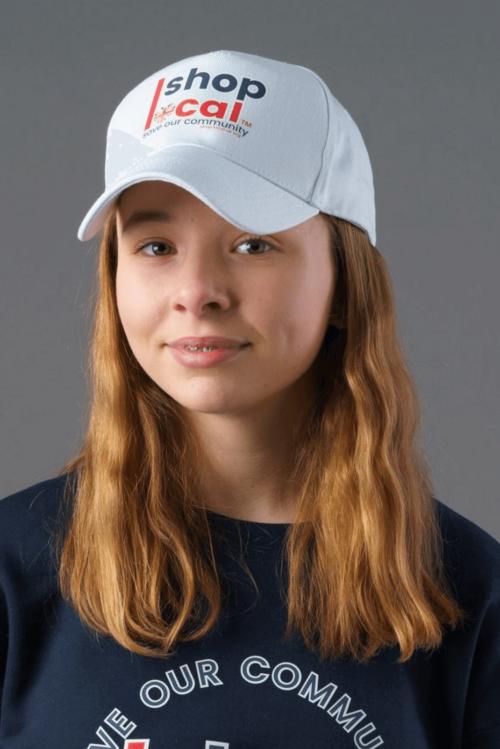 Baseball Caps - White - Modelled