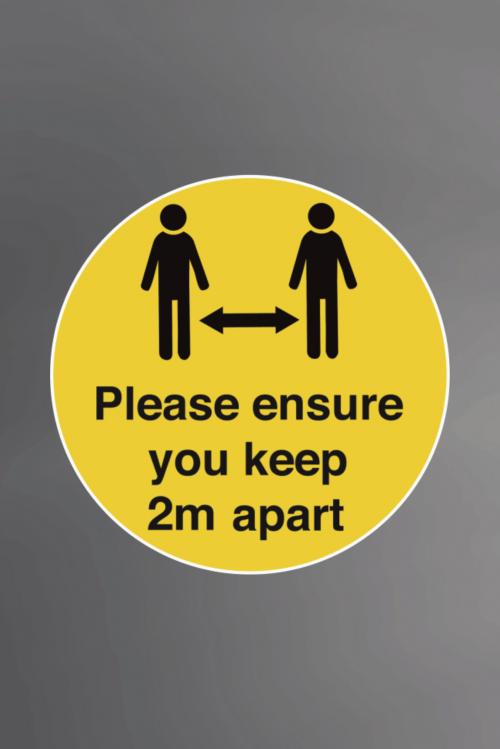 Ensure 2m Apart