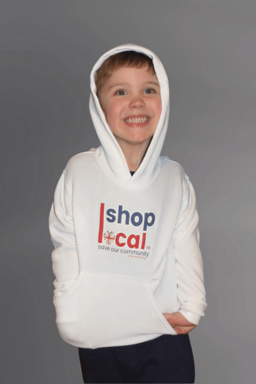 Youth Hooded Sweatshirts - Square - White