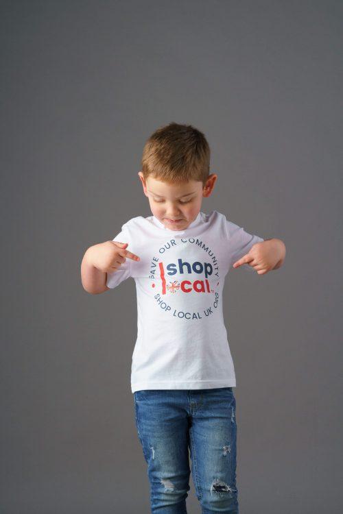 Youth T-shirts - Circle - White