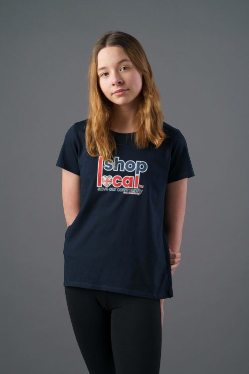 Youth T-shirts - Square - Navy