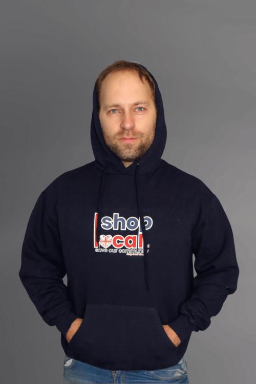 Adult Hooded Sweatshirts - Navy - Square